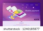 isometric online payment online ... | Shutterstock .eps vector #1240185877