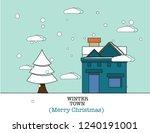 merry christmas poster design... | Shutterstock .eps vector #1240191001