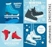 holiday winter skating banner... | Shutterstock .eps vector #1240192561