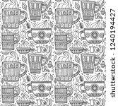 set of beautiful doodle cups...   Shutterstock .eps vector #1240194427