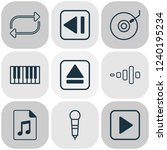 multimedia icons set with... | Shutterstock .eps vector #1240195234