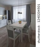 beautiful interior apartment... | Shutterstock . vector #1240204501