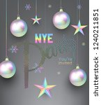 new year party invitation card... | Shutterstock .eps vector #1240211851