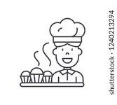 cook preparing desserts line...   Shutterstock .eps vector #1240213294