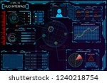 hud interface  elements of hud... | Shutterstock . vector #1240218754