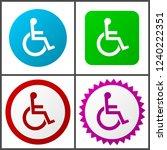 flat design wheelchair ...   Shutterstock .eps vector #1240222351