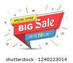 banner  sale banner template in ... | Shutterstock .eps vector #1240223014