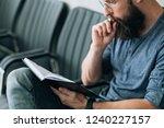 brainwork contemplation... | Shutterstock . vector #1240227157
