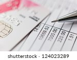 financial report | Shutterstock . vector #124023289