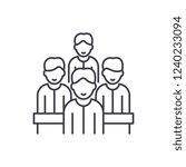 agile team line icon concept.... | Shutterstock .eps vector #1240233094