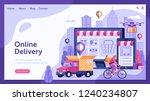 online delivery service landing ...