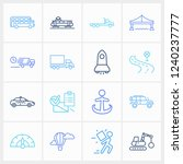 logistics icon set and suv with ...