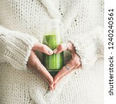 winter seasonal smoothie drink... | Shutterstock . vector #1240240561