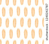 seamless pattern of ripe corn.... | Shutterstock .eps vector #1240242787