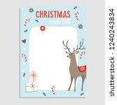 cute christmas greeting card ... | Shutterstock .eps vector #1240243834
