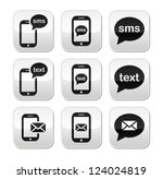 mobile sms text message mail... | Shutterstock .eps vector #124024819
