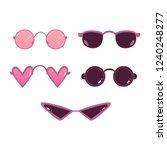 vector heart shape  circle... | Shutterstock .eps vector #1240248277