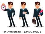 business man cartoon character... | Shutterstock .eps vector #1240259071