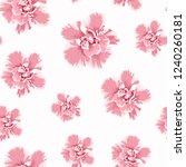pink camelia peony flowers...   Shutterstock .eps vector #1240260181