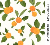 seamless pattern with orange... | Shutterstock .eps vector #1240260187