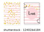 bridal shower set with dots and ... | Shutterstock .eps vector #1240266184