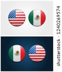united states of america usa... | Shutterstock .eps vector #1240269574