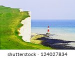Lighthouse And The White Cliff...