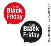 black friday sale label | Shutterstock .eps vector #1240284637