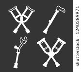 crutches icon set. outline set... | Shutterstock .eps vector #1240289971