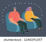 vector cartoon illustration of... | Shutterstock .eps vector #1240291357