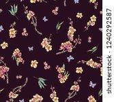 watercolor spring seamless... | Shutterstock . vector #1240292587