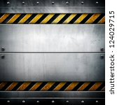 metal template with warning... | Shutterstock . vector #124029715