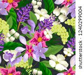 tropical flower seamless vector ... | Shutterstock .eps vector #1240299004