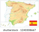 spain physical map isolated on... | Shutterstock .eps vector #1240308667