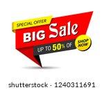 banner  sale banner template...   Shutterstock .eps vector #1240311691
