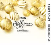 christmas background with tree... | Shutterstock .eps vector #1240313551