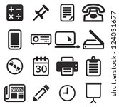 office icon set | Shutterstock .eps vector #124031677