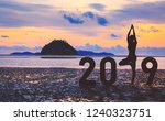new year 2019 concept... | Shutterstock . vector #1240323751