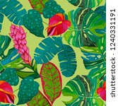 creative seamless pattern with... | Shutterstock . vector #1240331191
