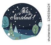 merry christmas lettering on... | Shutterstock .eps vector #1240336624