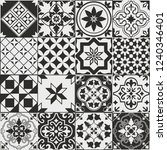 seamless pattern of tiles.... | Shutterstock .eps vector #1240346401