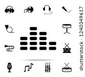 sound equalizer icon. music... | Shutterstock . vector #1240349617