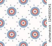 retro polka dot sun target... | Shutterstock .eps vector #1240353241