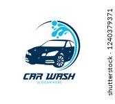 car wash service vector logo... | Shutterstock .eps vector #1240379371