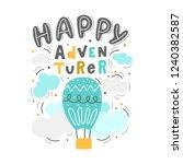 hand drawn lettering phrase... | Shutterstock .eps vector #1240382587