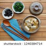 korean food soybean paste stew  ... | Shutterstock . vector #1240384714