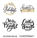 happy holidays and cookies for...   Shutterstock .eps vector #1240398667