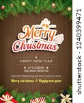 christmas greeting card with... | Shutterstock .eps vector #1240399471