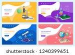 biology discipline  school... | Shutterstock .eps vector #1240399651