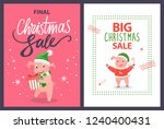 big and final christmas sale... | Shutterstock .eps vector #1240400431